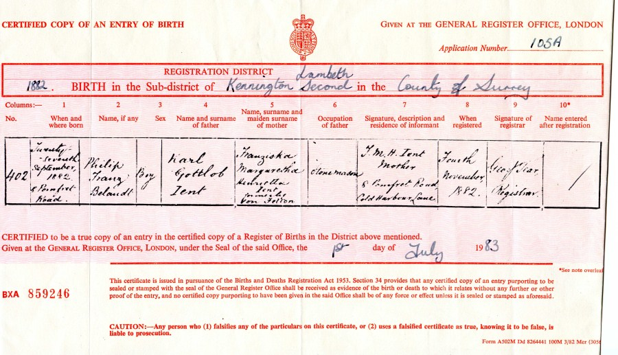 The ient family family history ient jent spelling another example of the ient spelling is the marriage certificate of charles karl ient julia ann thorley hemmings of 8th april 1894 yadclub Choice Image