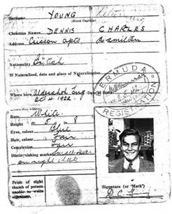 Dennis Young's ID card dated 11th May 1942