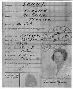 Pauline Young ID card